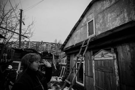 This family resides in a falling apart house. Local authorities planned to demolish it back in 1980s but it never happened