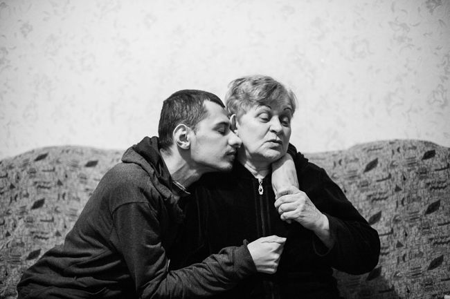 "Arik Shraga. ""Joint"" Families: The Stories of Love. Transnistria, Rybnitsa. Stepan and his mother"