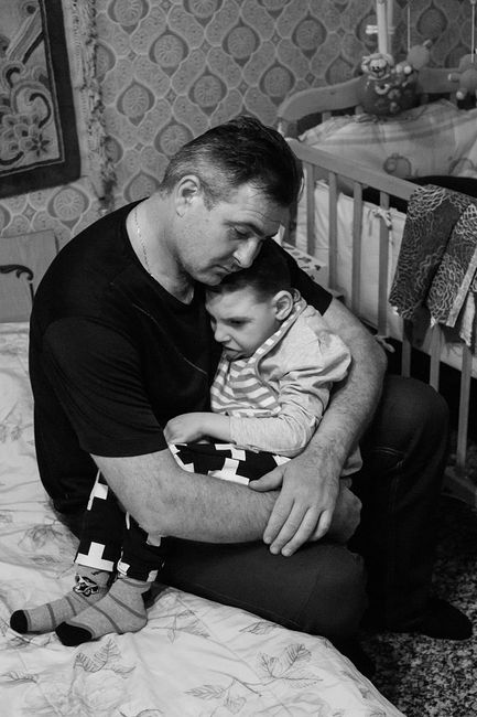 Arik Shraga. Central Ukraine. Danya and his father