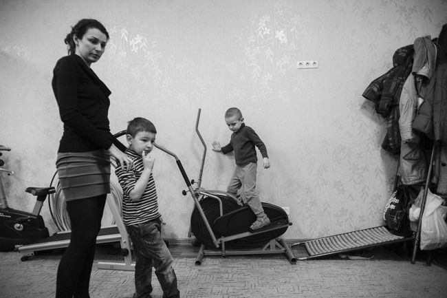 Arik Shraga. Eastern Ukraine. Kharkov. Day care center for children with disabilities