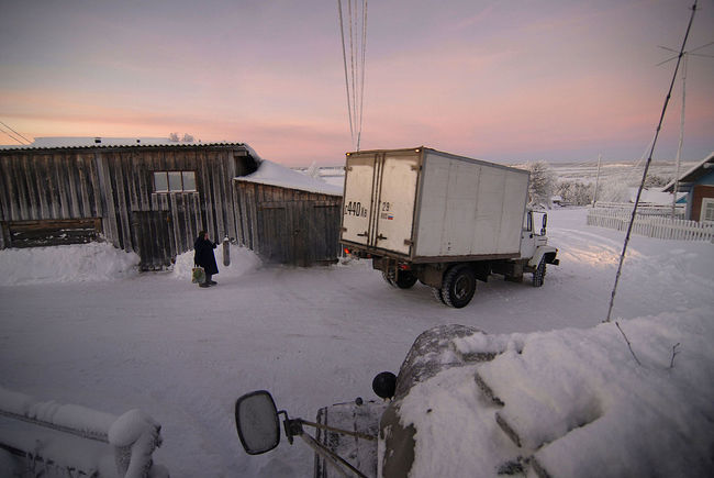 Arik Shraga. Disappearing villages. Veegora village. Grocery truck